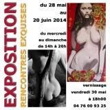 «Rencontres exquises» co-exposition de MAONI et Patrick RANA-PERRIER du 28 mai au 20 juin 2014